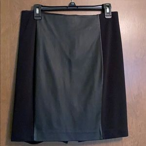 Express leather panel pencil skirt